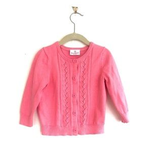 Hanna Andersson Pink Button Down Cardigan Sweater